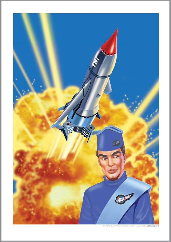 Andrew Skilleter Thunderbirds artwork on sale