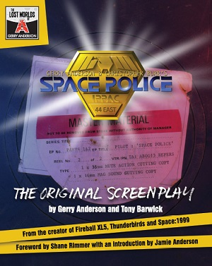 The cover of the Space Police scriptbook