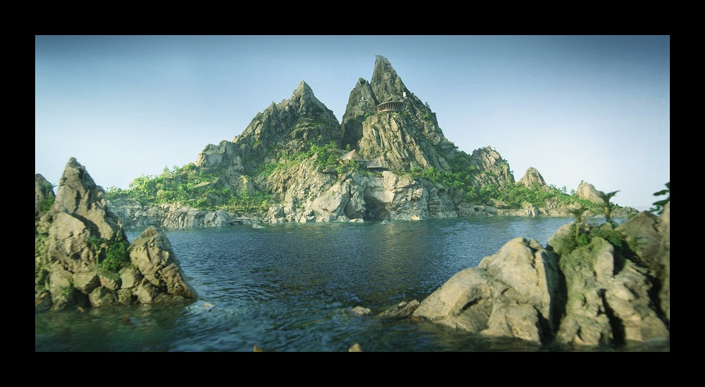 The new-look Tracy Island, from Thunderbirds Are Go!