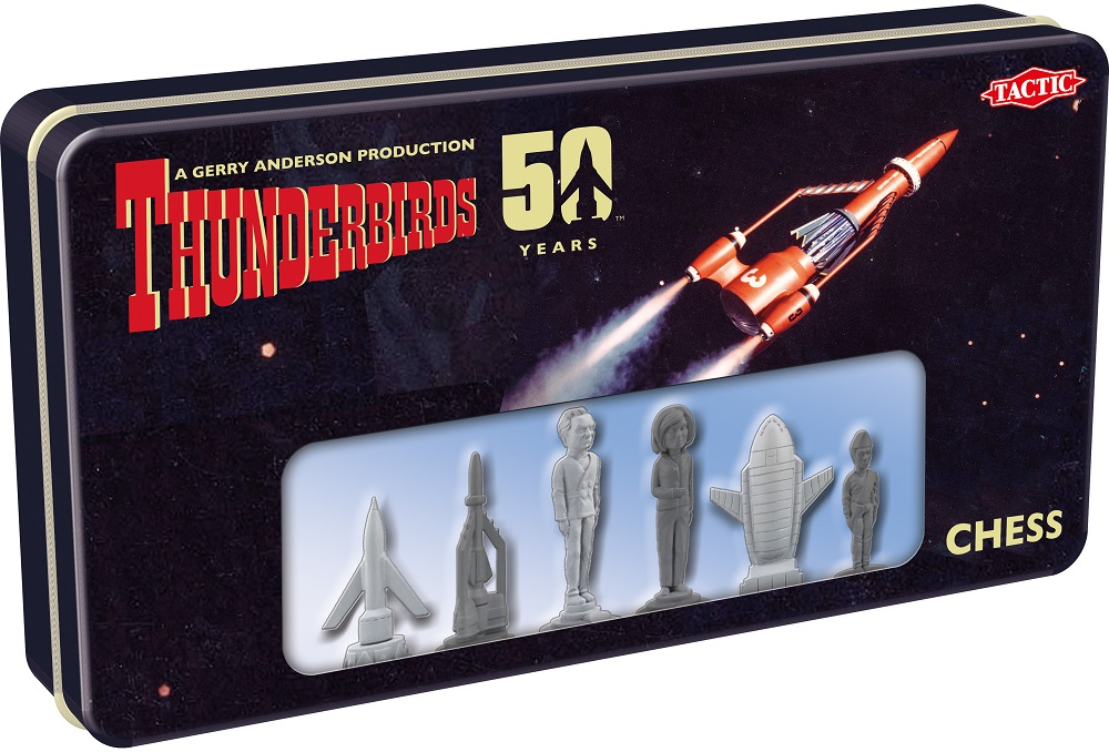 Thunderbirds Chess Set packaging