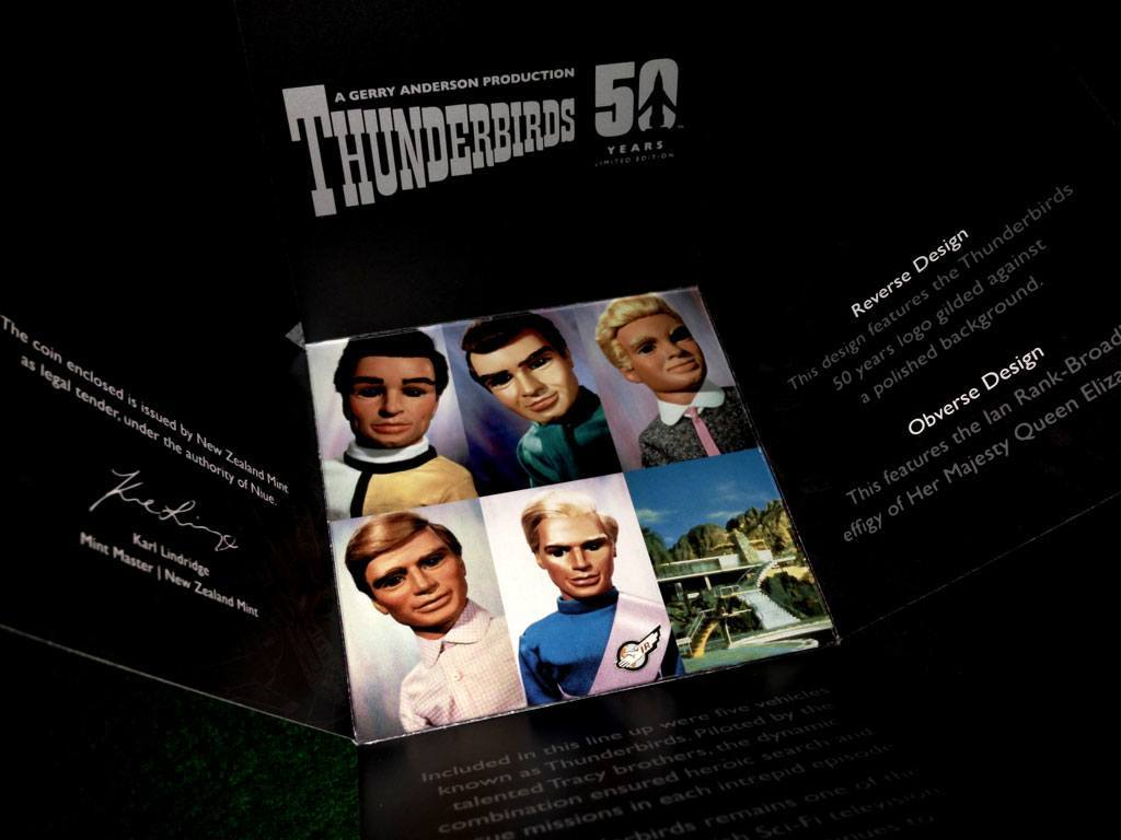 Thunderbirds 50th anniversary coin