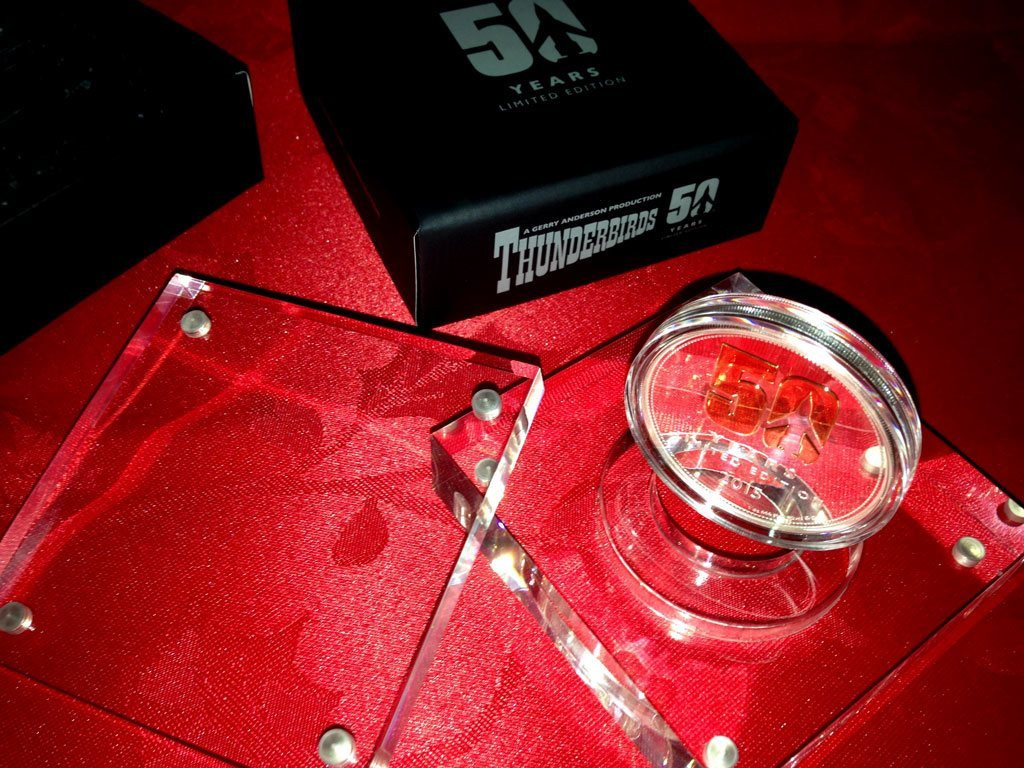 Thunderbirds 50th anniversary coin - box and coin