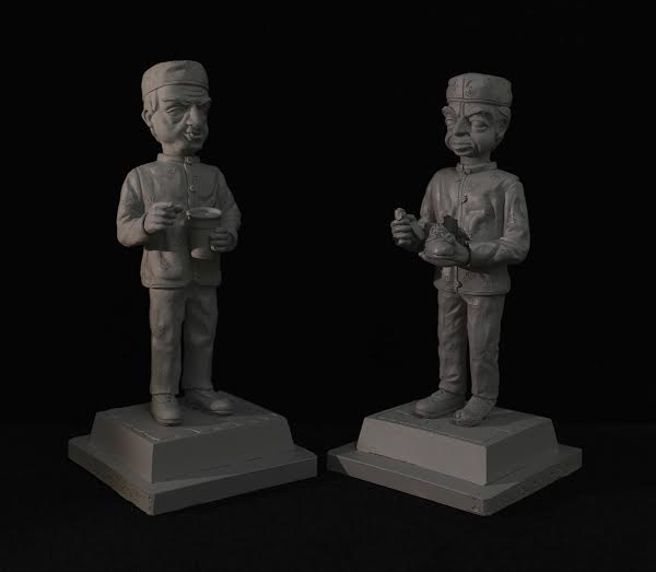 Parker and Light Fingered Fred figurines from Robert Harrop