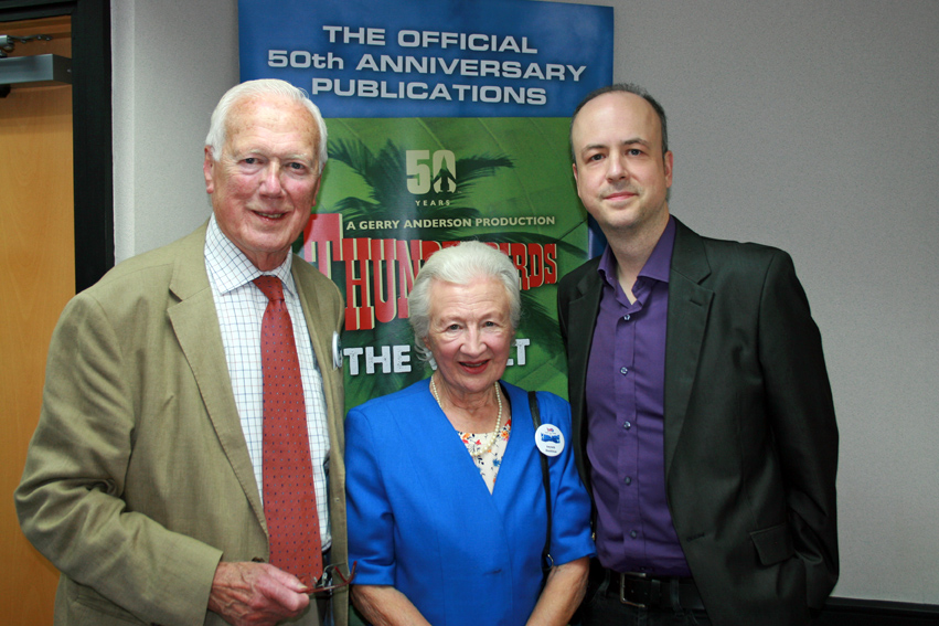 Keith and Gwyneth Shackleton, with Marcus Hearn. Picture by Sharon Ankin