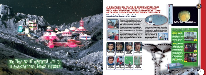 Inside the Captain Scarlet close-up book