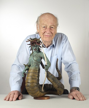 Ray Harryhausen with medusa